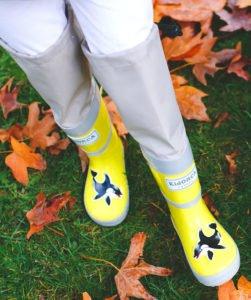 резиновые сапоги KidORKA желтые выше колена